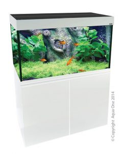 Aqua One Brilliance 120 White Aquarium Set