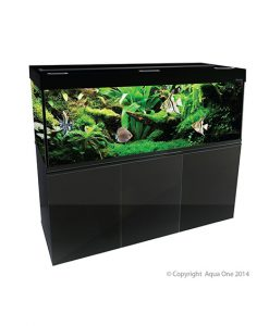 Aqua One Brilliance 150 Black Aquarium Set