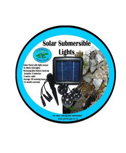 Solar Submersible Lights Including Battery Backup